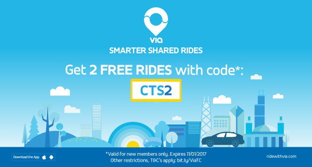 $10 Off Your First Ride With Via